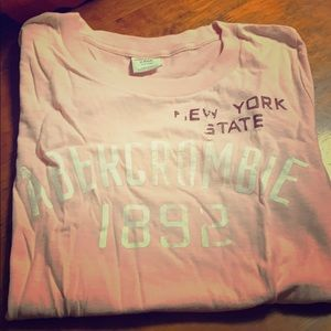 Pink Abercrombie &Fitch T-shirt
